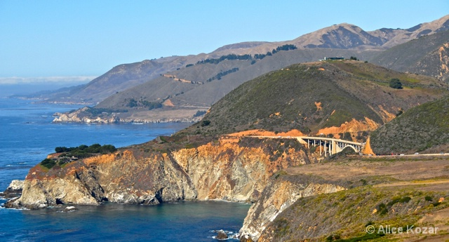 California's colorful coast near Big Sur