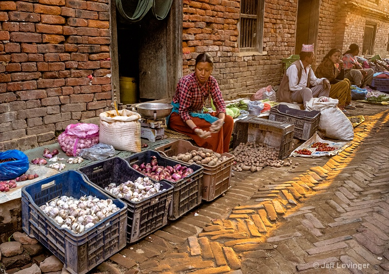 Alley Market Stalls,  Bhaktapur, Nepal  #814