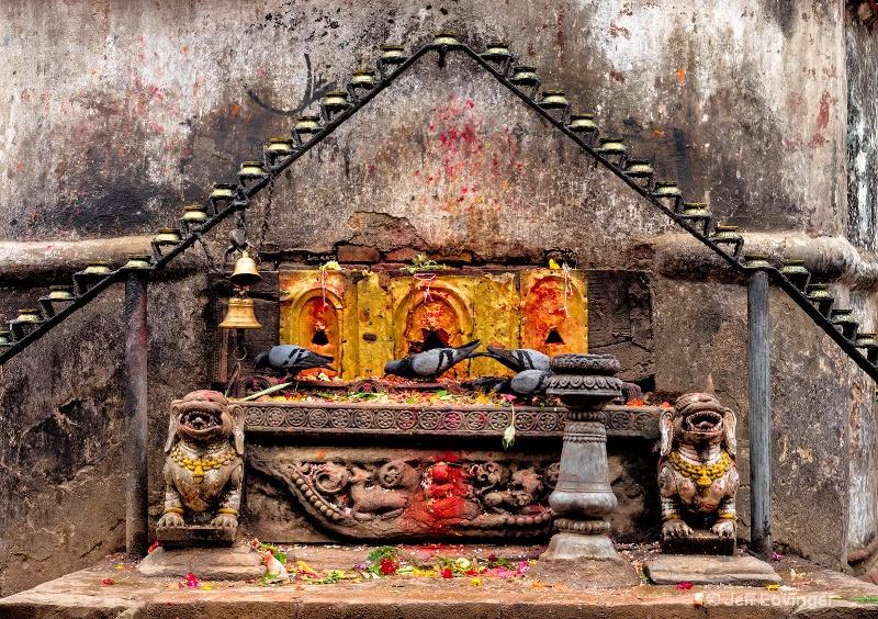 Butter Lamp Offerings, Kathmandu, Nepal  #815