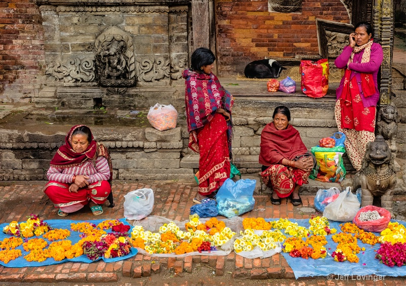 Flower Vendors,  Bhaktapur, Nepal  #816