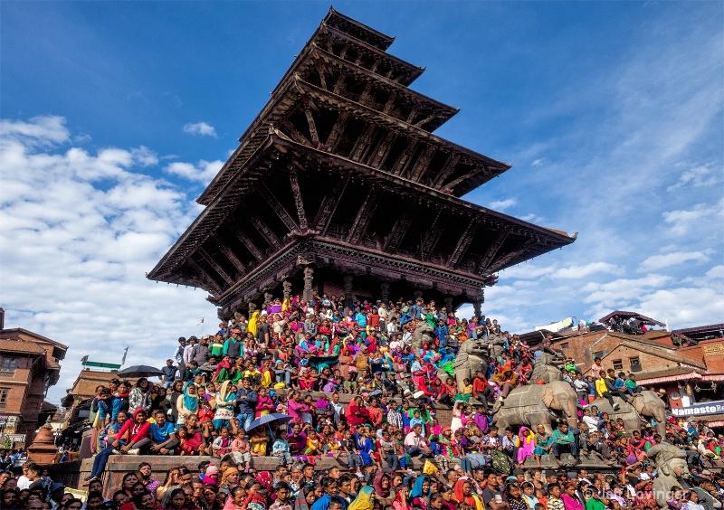 New Year Celebration, Bhaktapur, Nepal  #819