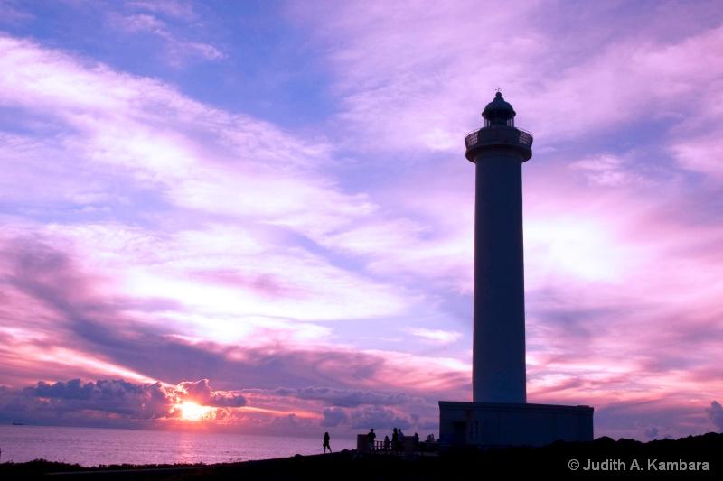 Cape Zanpa Lighhouse at Sunset (reworked)