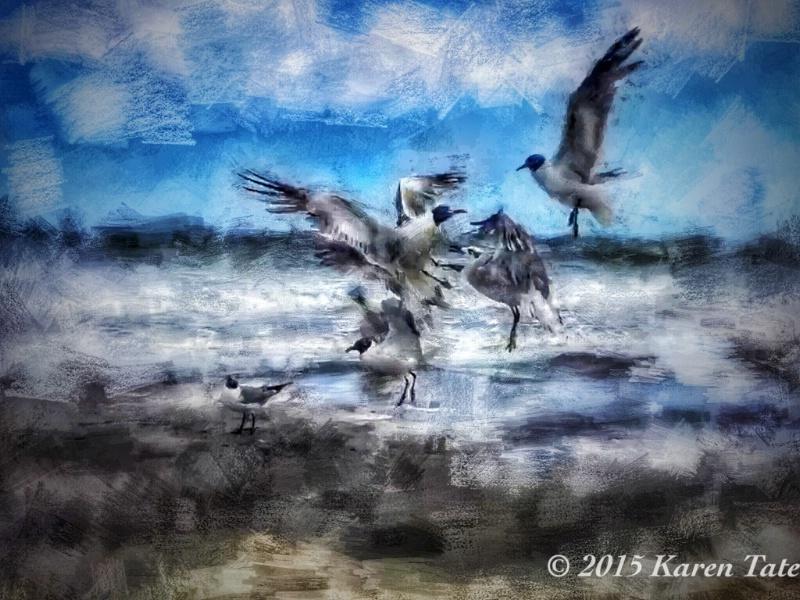 Taking flight - painterly