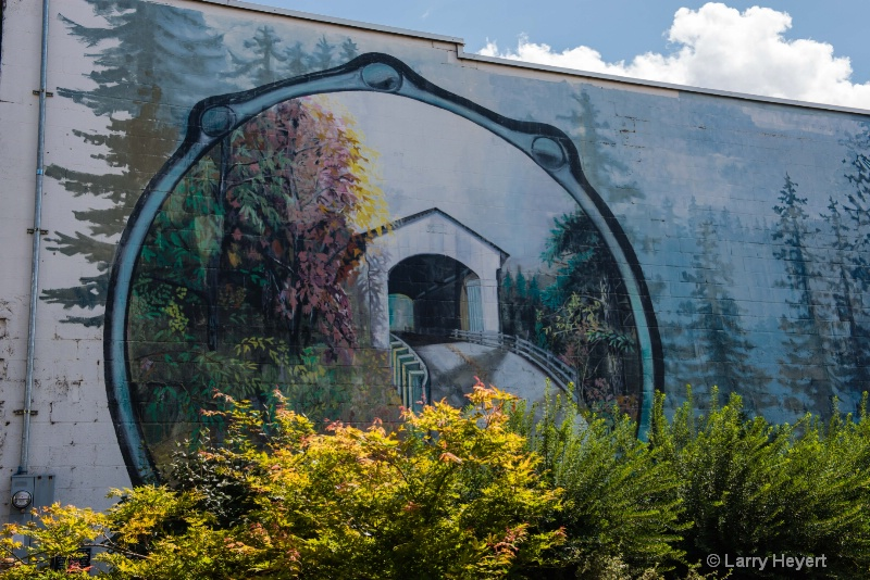 Mural in Cottage Grove, Oregon