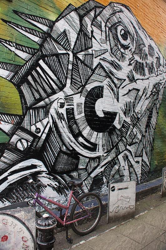 Fish Graffiti in Brighton