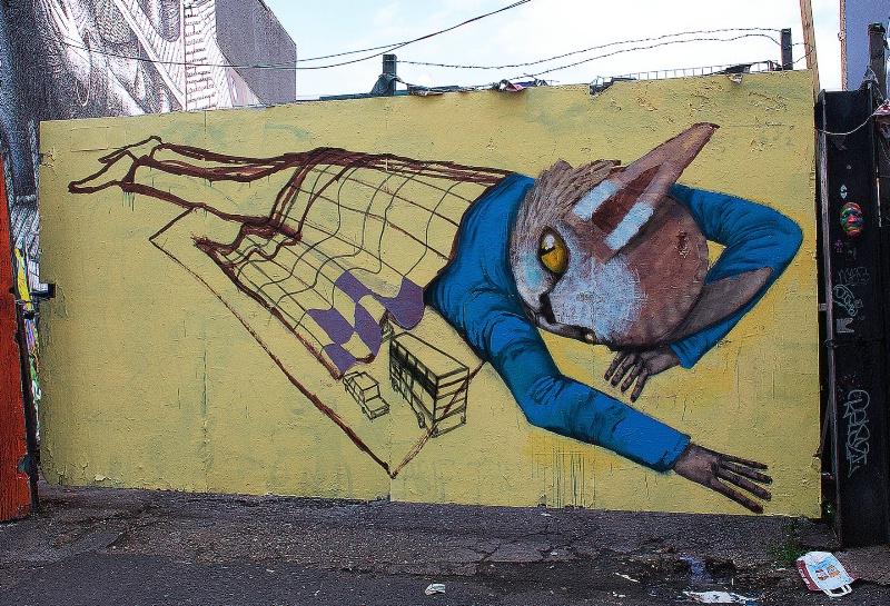 Homeless Cat Graffiti