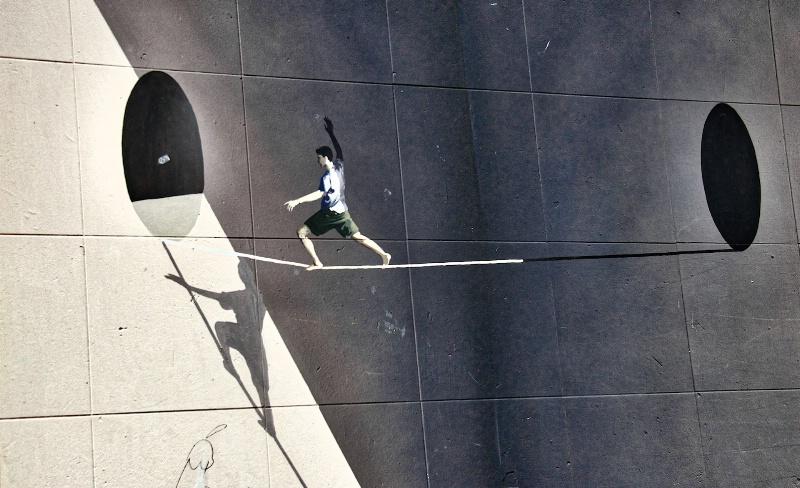 Tight Rope Graffiti