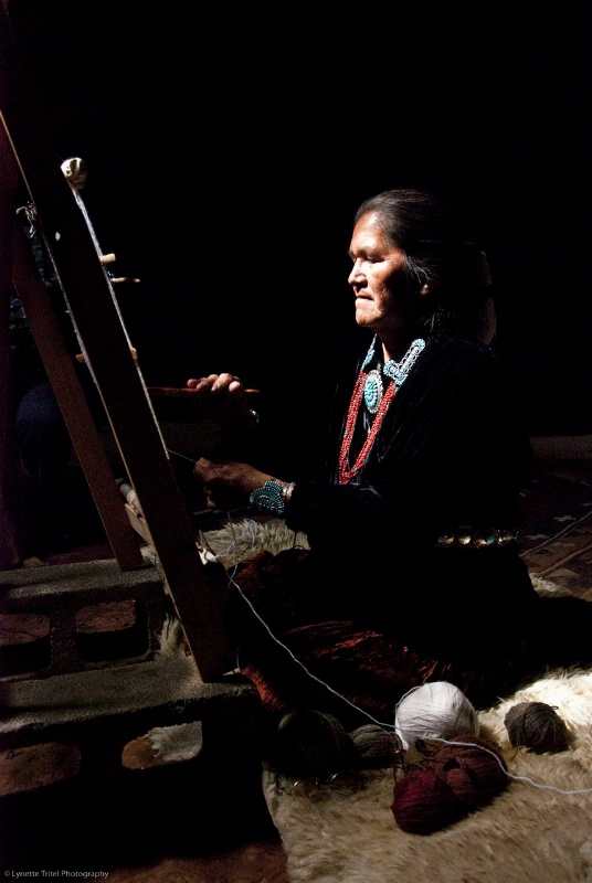 grandmother at loom