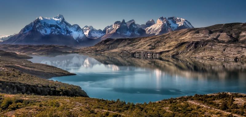 Mountain Range Reflection  9297