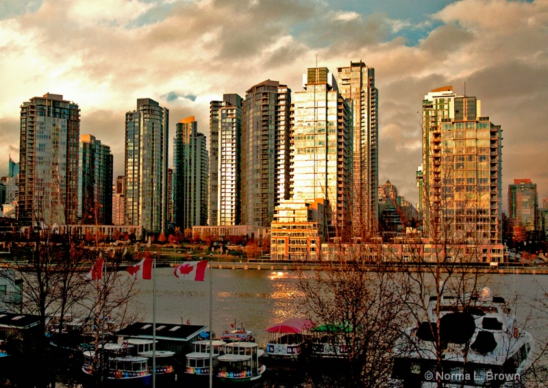 Vancouver, BC at sunset