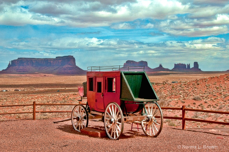 Stage Coach in  Monument Valley, AZ