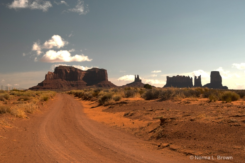 Driving to Monument Valley, AZ