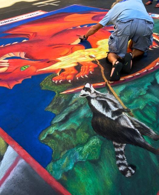 Palo Alto Street Artist in Action