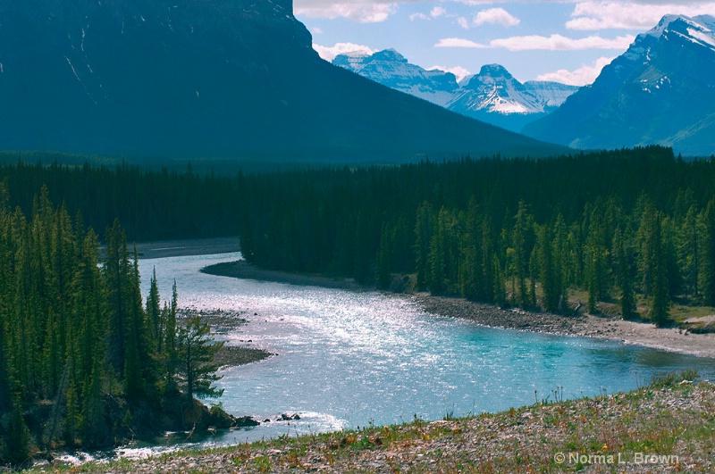 North Saskatchewan River in Jasper NP, Canada