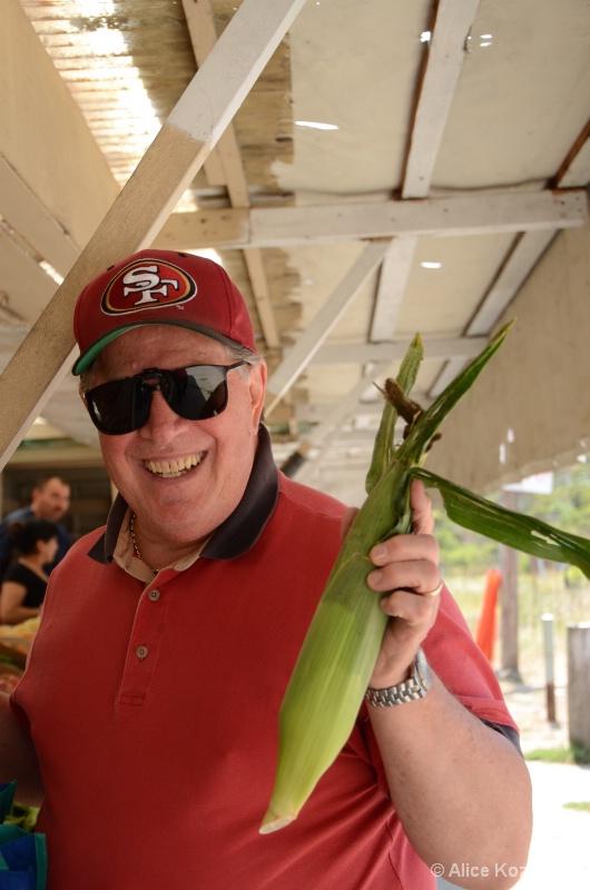 Corn for dinner! Farm Stand HMB