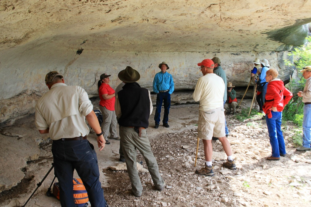Rock Art Foundations members at shelter