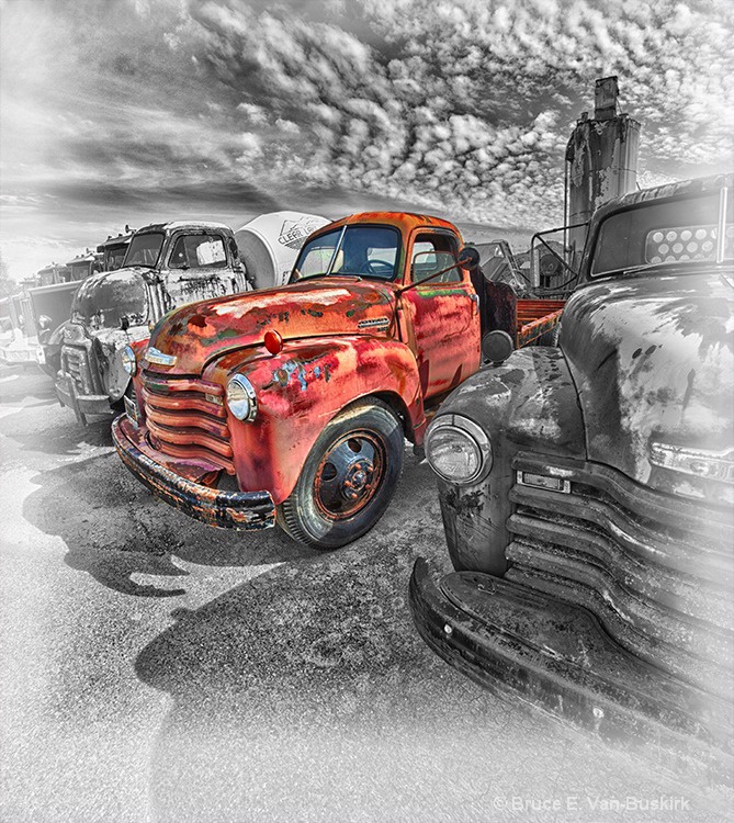 HDR truck with multiple pictures stitched together