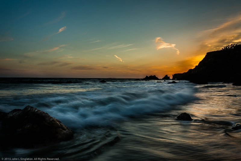 Sunset at Matador Beach