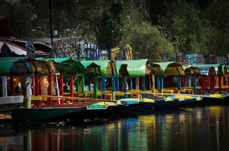 Xochimilco Parked Trajineras
