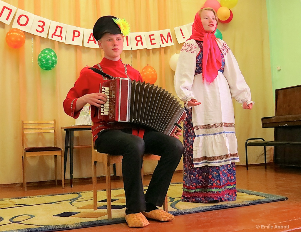 Young Russian Students Performing