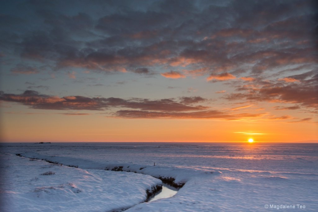 Sunset over Iceland