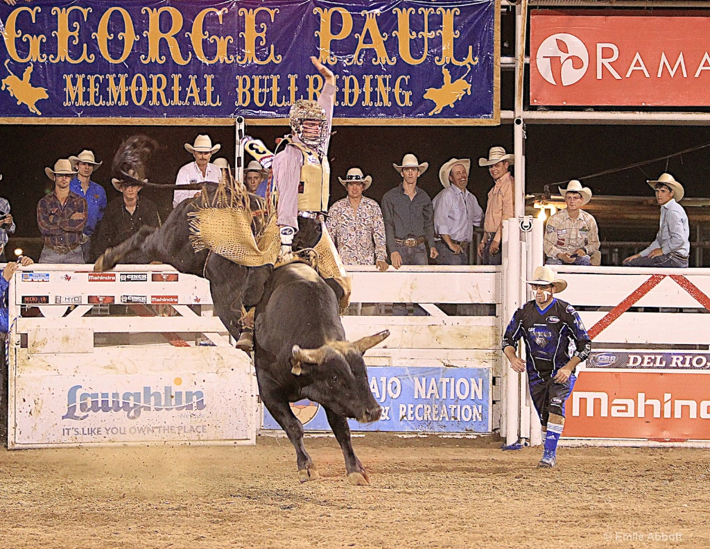 Perfect form at GPM bull riding