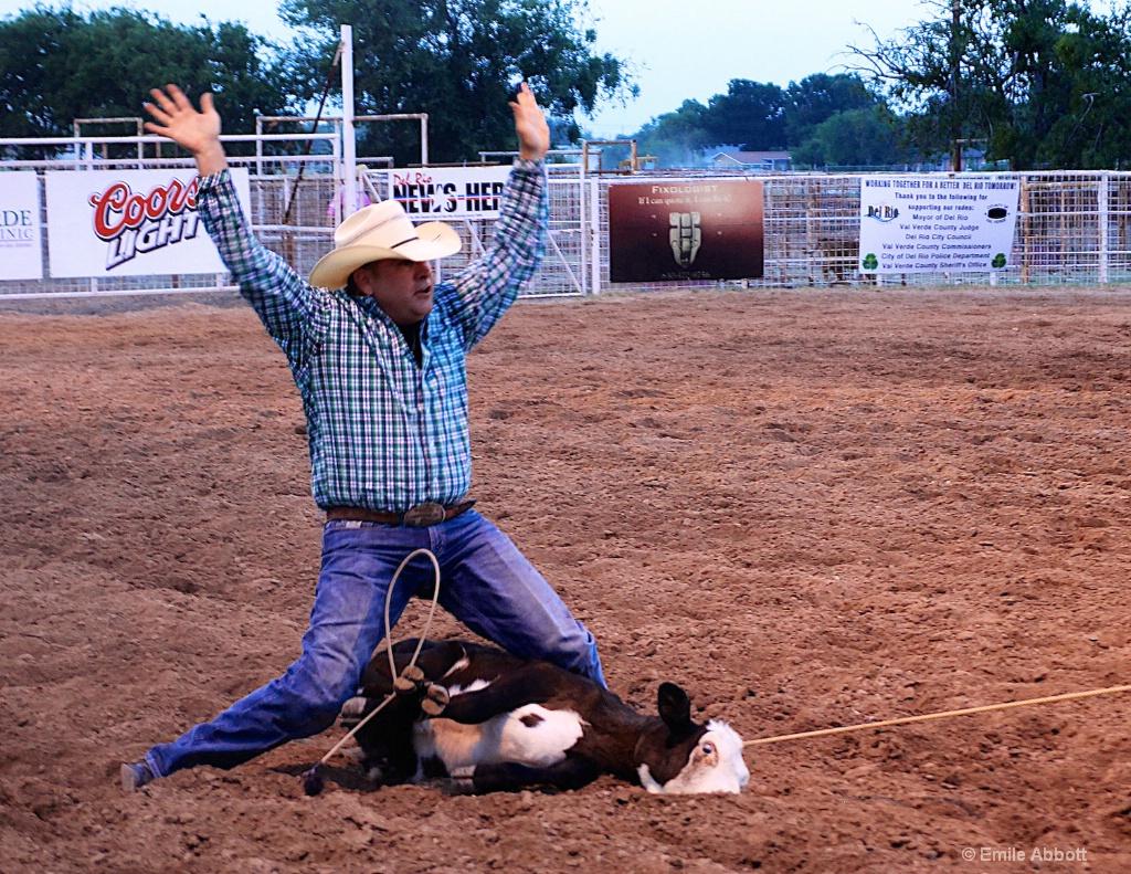 Calf Roping done