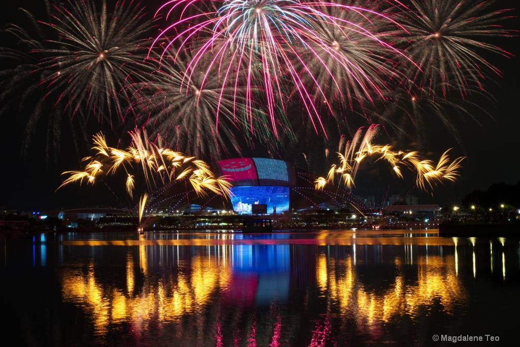 Composite photos of Fireworks 16 July 2016