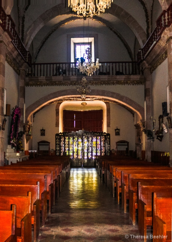 Cathedral Line of Pews