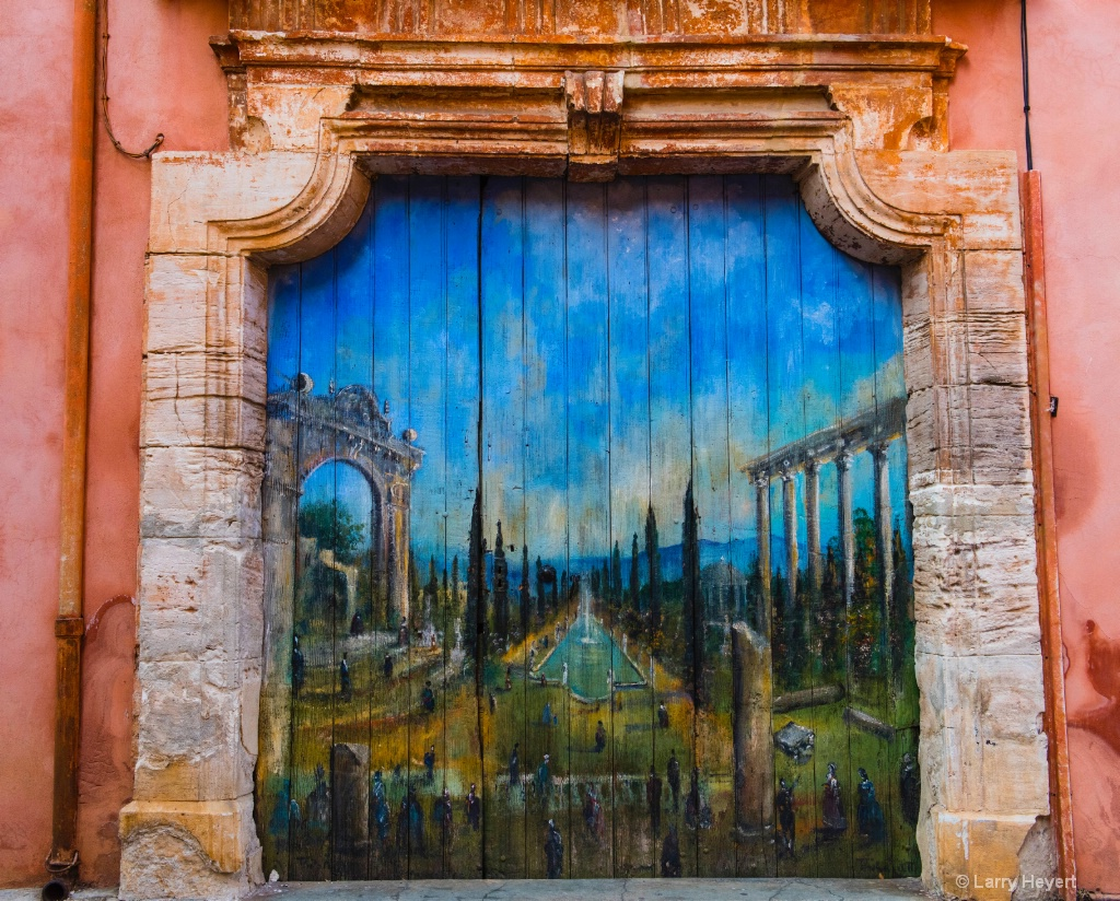 Mural in Provence, France