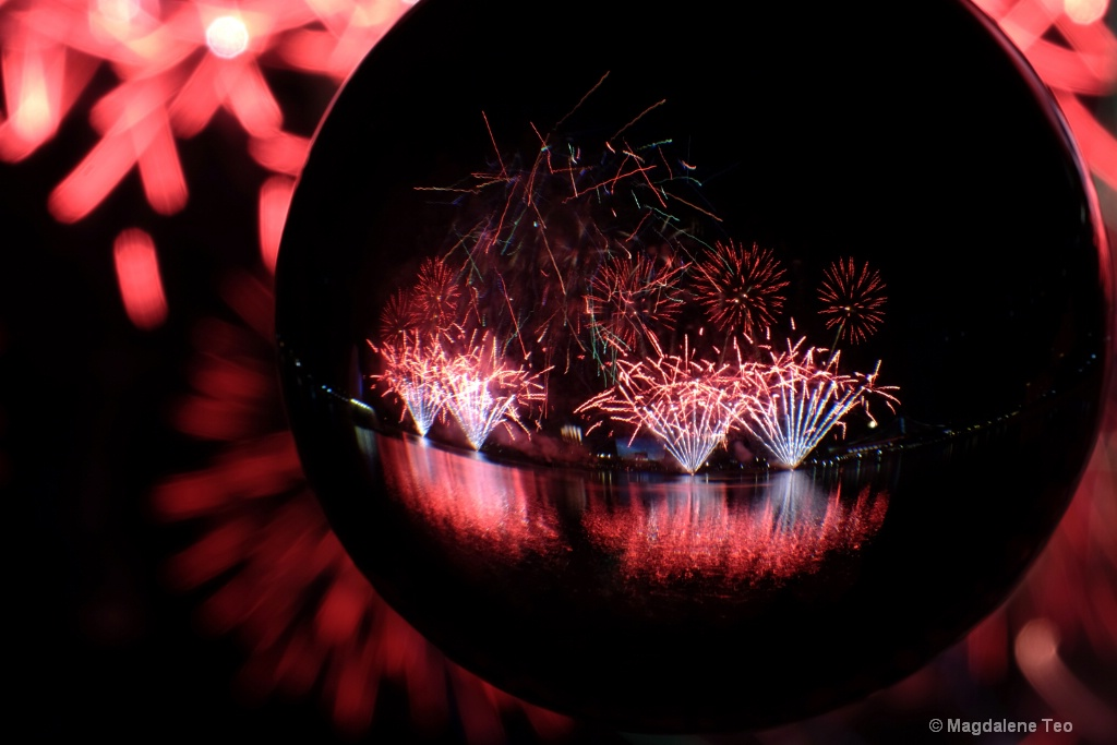 Fireworks in Crystal Ball