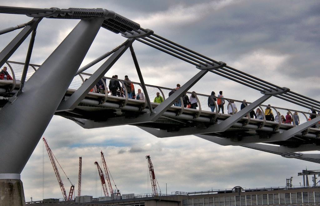 Pedestrians at the Millenium Bridge