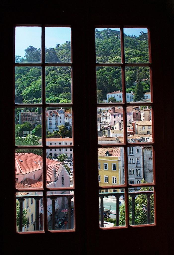 Window in Sintra Portugal