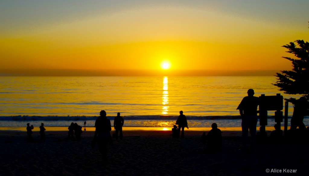 Watching Sunset  Carmel Beach