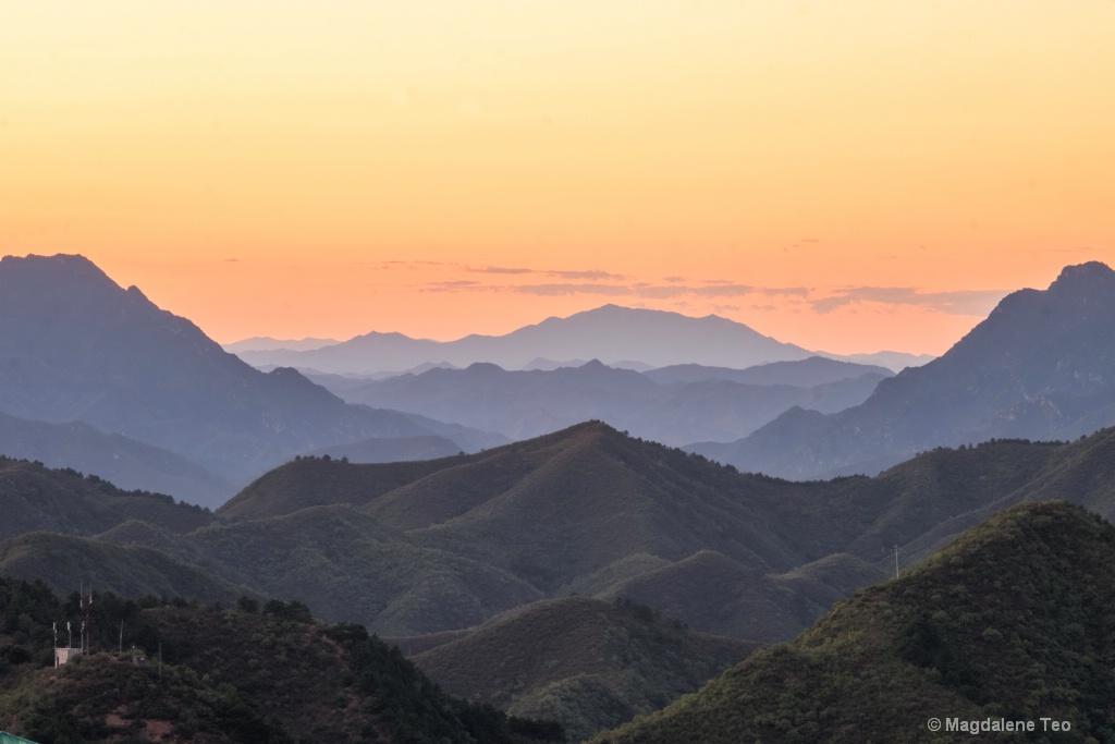 Sunset at the Great Wall, China