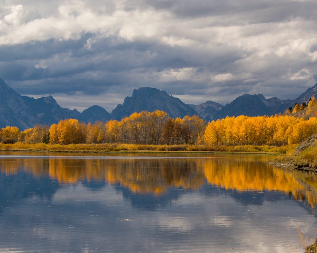 Oxbow Bend Fall Reflection