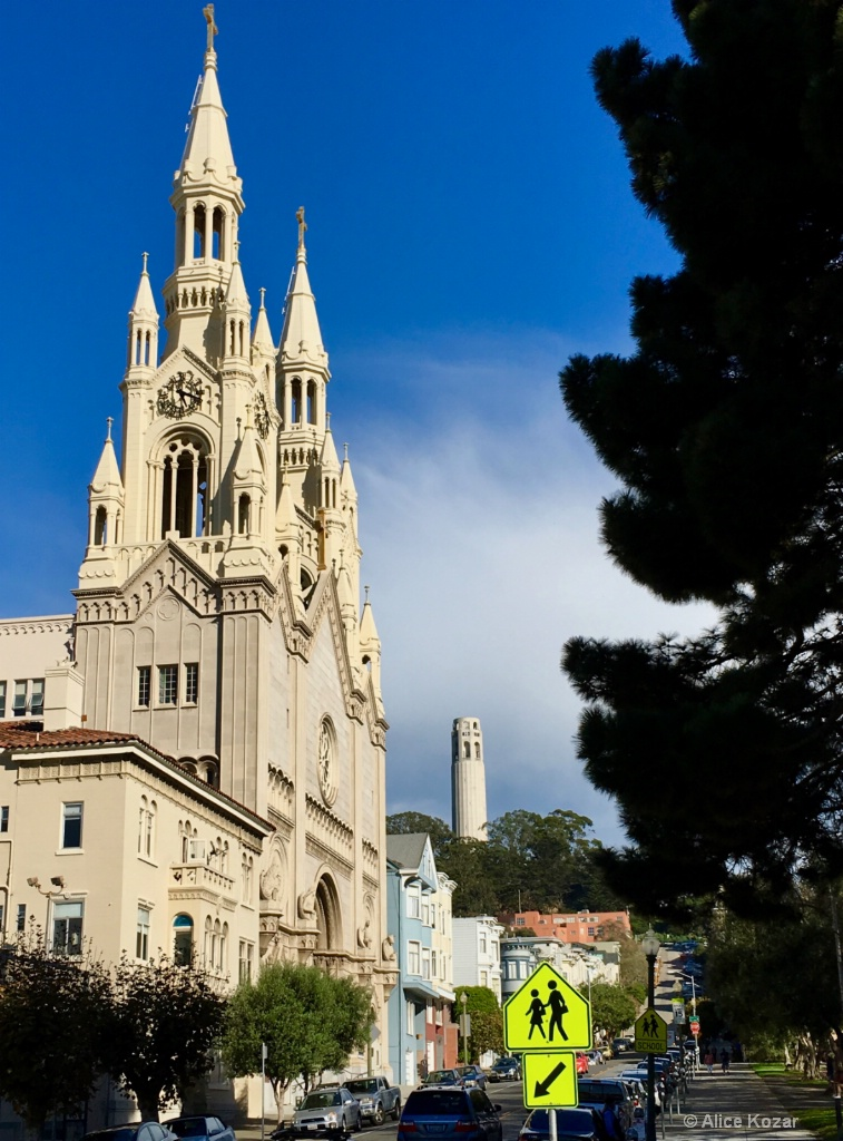 Guess which City Sts PeterPaul  Coit up the hill