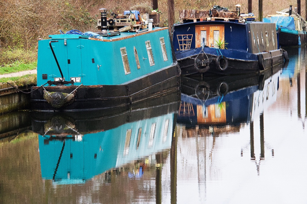 Barged in a Canal