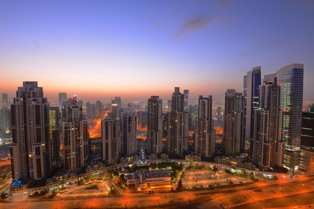 Dubai @ Dawn Skyline