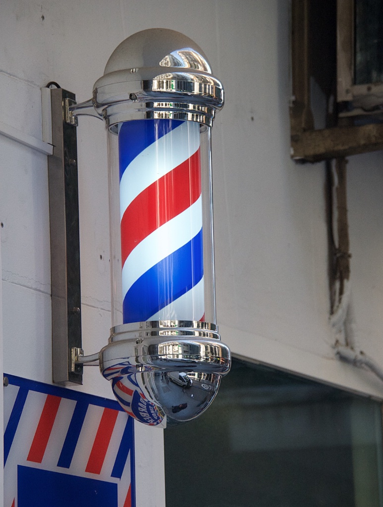Old Fashioned Barber Shop in Madrid