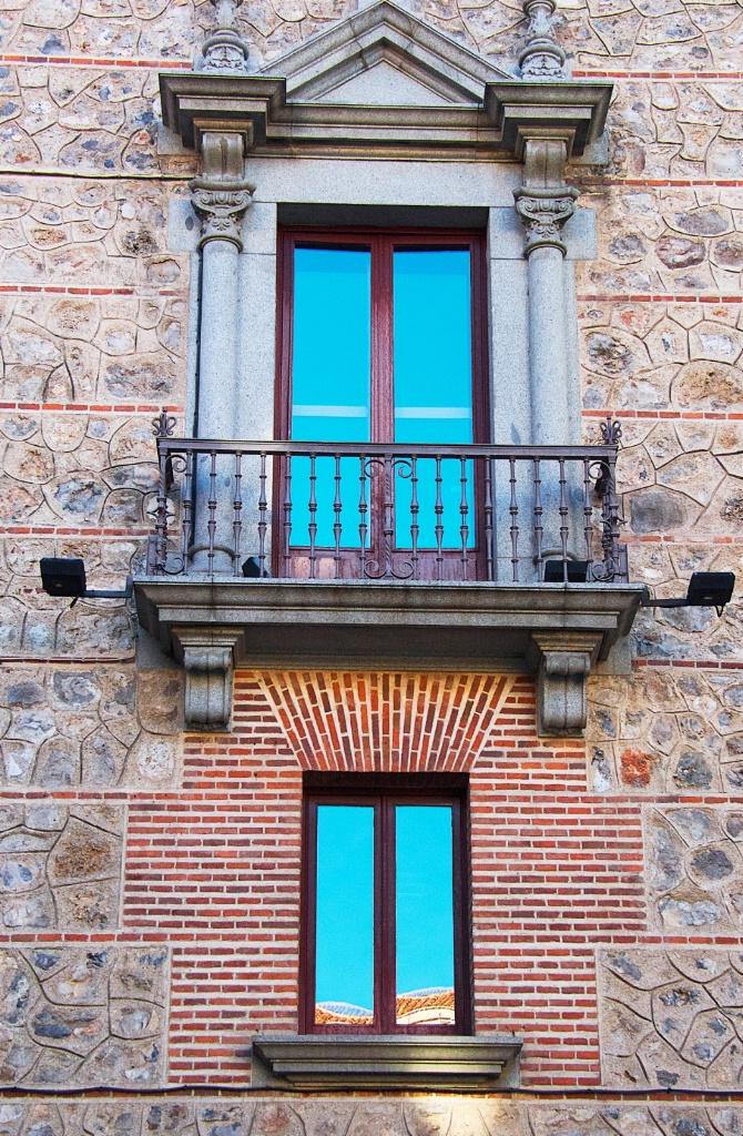 Blue Balconies in Madrid