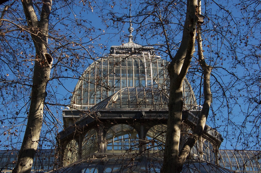 Green house in a Madrid Park