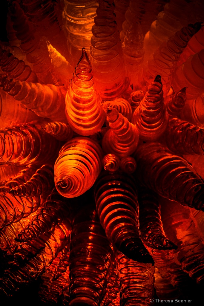 Chihuly Glass - Orange is the New Black ..