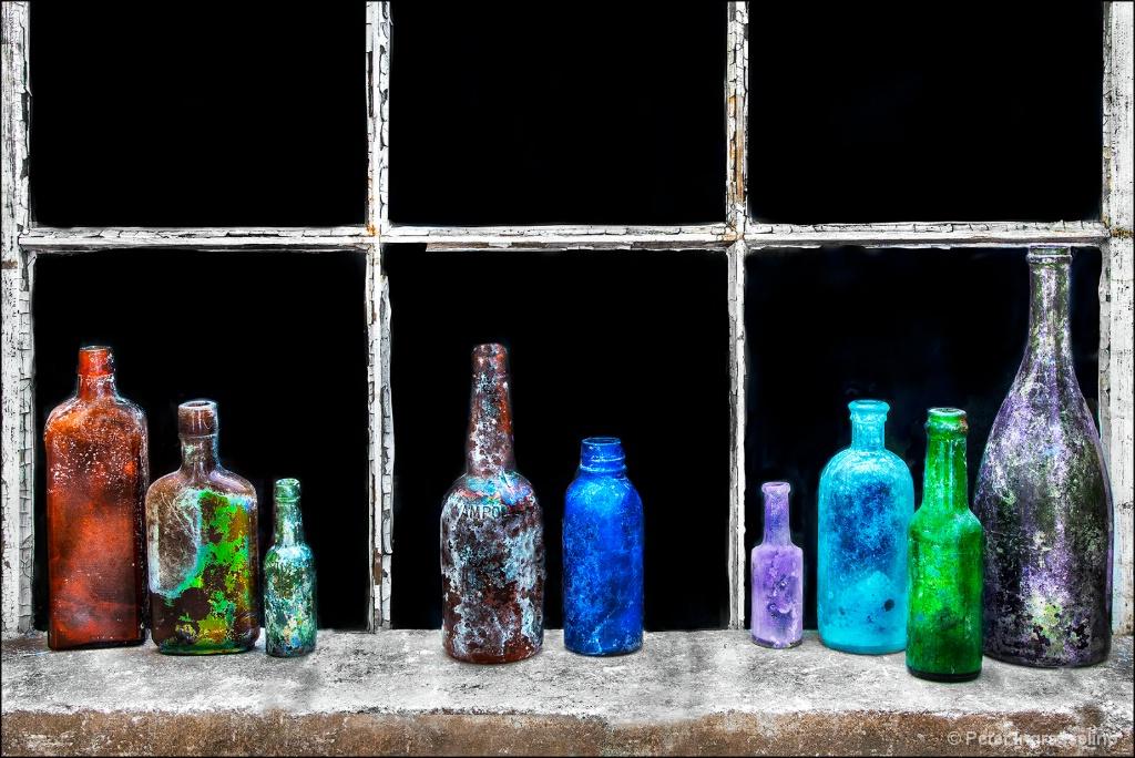 Bottles on Window Sill