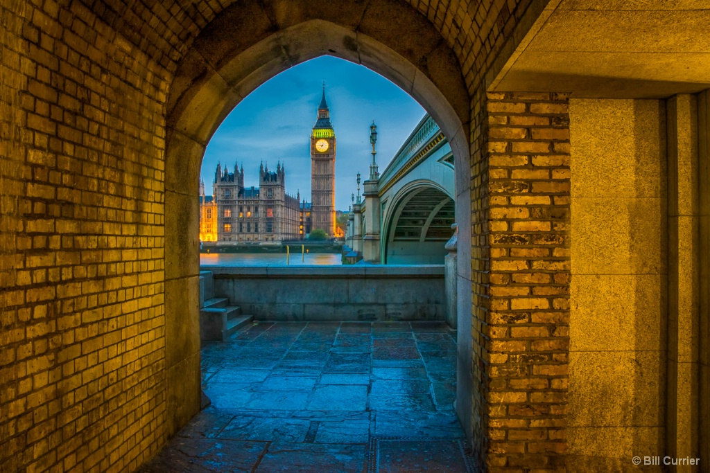 Big Ben Through Westminster Bridge Tunnel