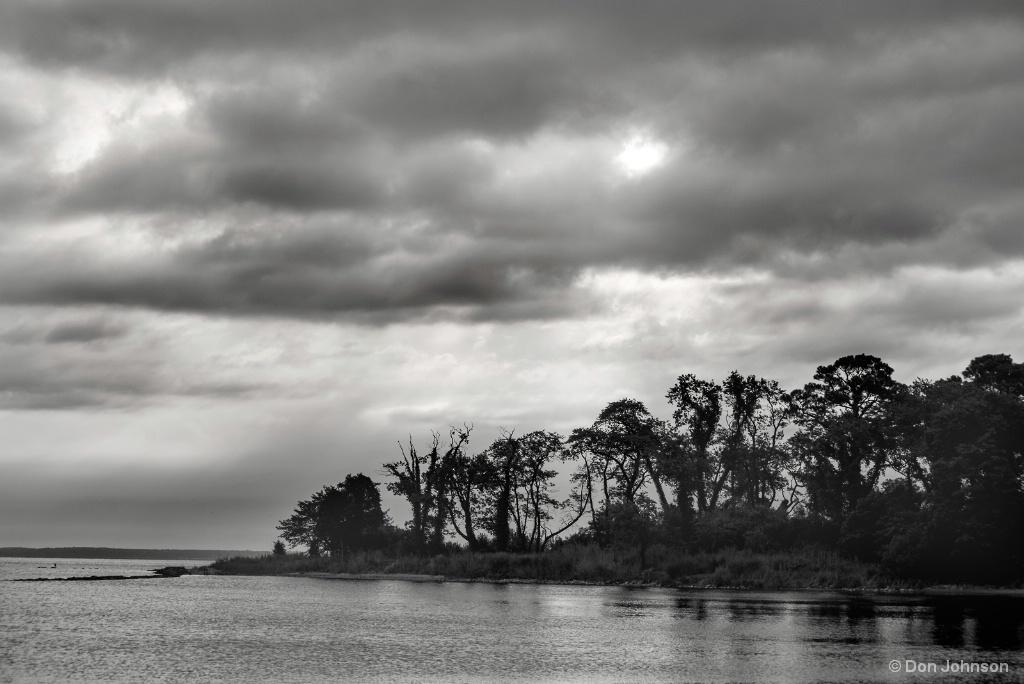 Eastern Shore Sunrise-Black and White