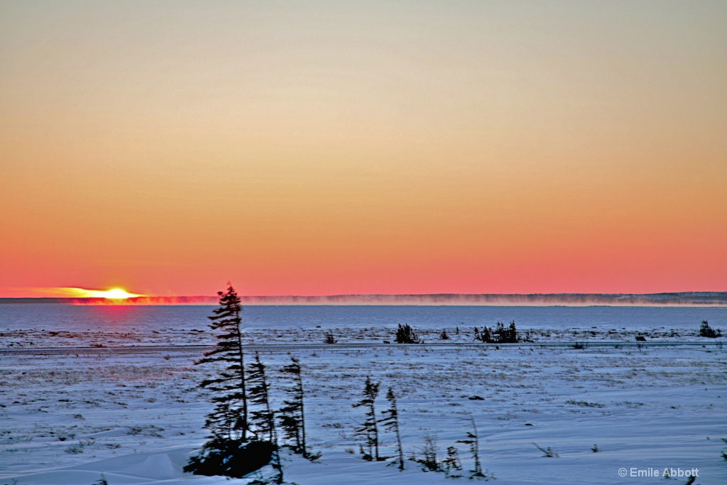 Sunset over the Tundra.