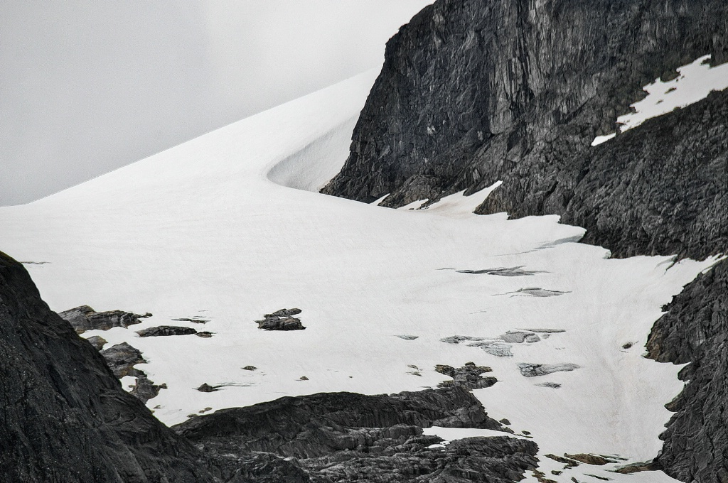 Snow  and Rock formation