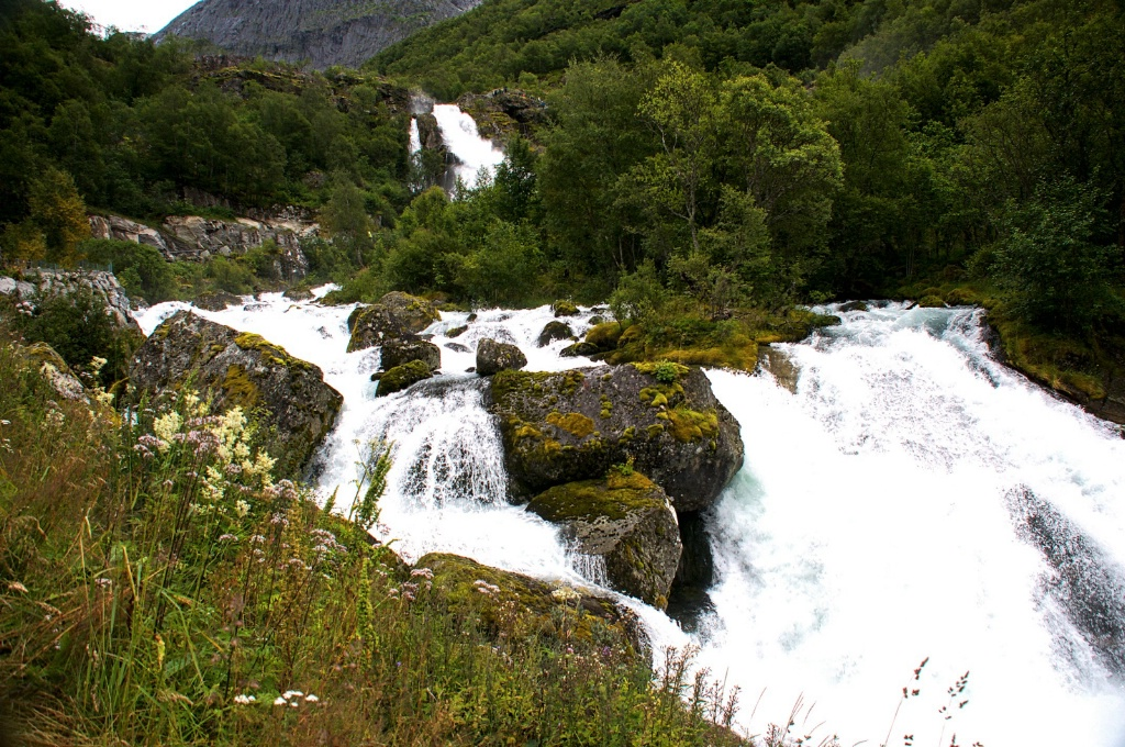 Waterfall and River feeding from the Fiord