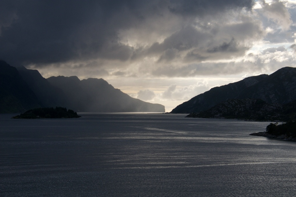 Entering a Fiord in Norway